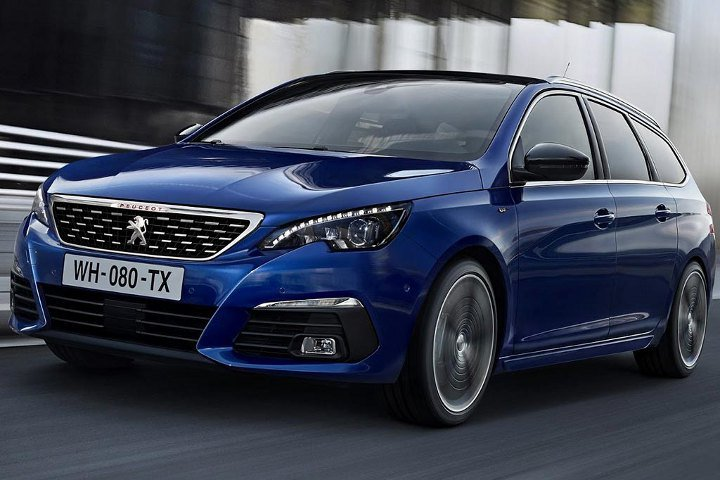 Peugeot 308 2018 синий