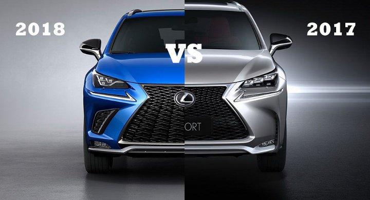Lexus ES 2018 года в сравнении с моделью 2017 года